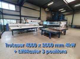 Punch TRUMPF TRULASER 3040 4000 X 2000 MM 4KW + LIFTMASTER (USED)